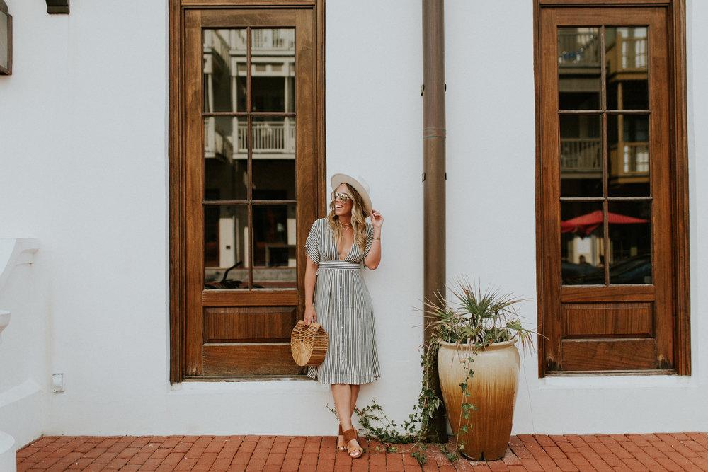 Blogger Gracefully Taylored in Faithful the Brand Stripe Dress(34).jpg
