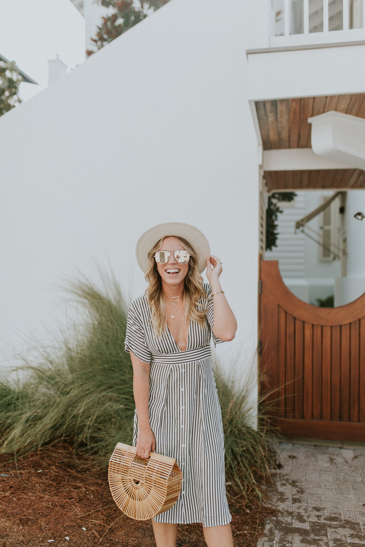 Blogger Gracefully Taylored in Faithful the Brand Stripe Dress(27).jpg