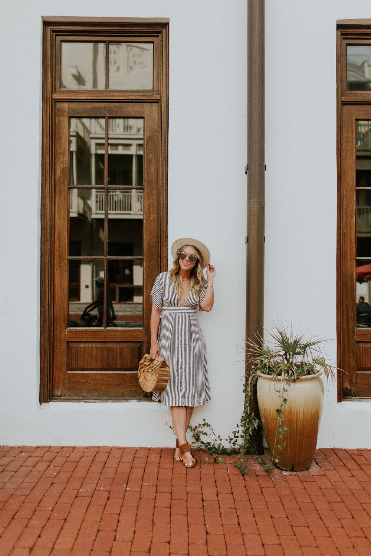 Blogger Gracefully Taylored in Faithful the Brand Stripe Dress(33).jpg