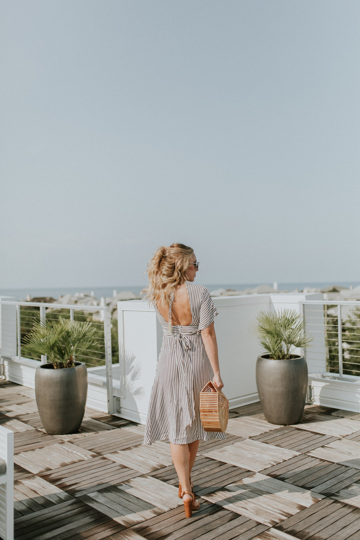Blogger Gracefully Taylored in Faithful the Brand Stripe Dress(11).jpg