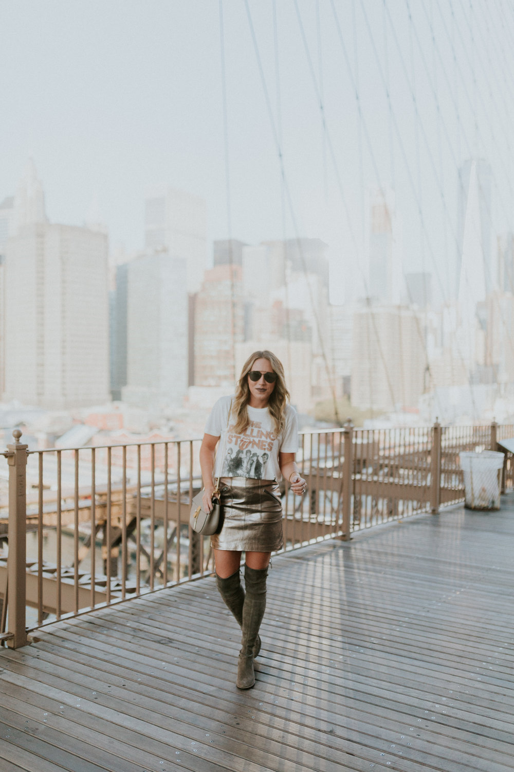 Blogger Gracefully Taylored in DayDreamer Tee, BlankNYC Skirt and Stuart Weitzman Boots.jpg