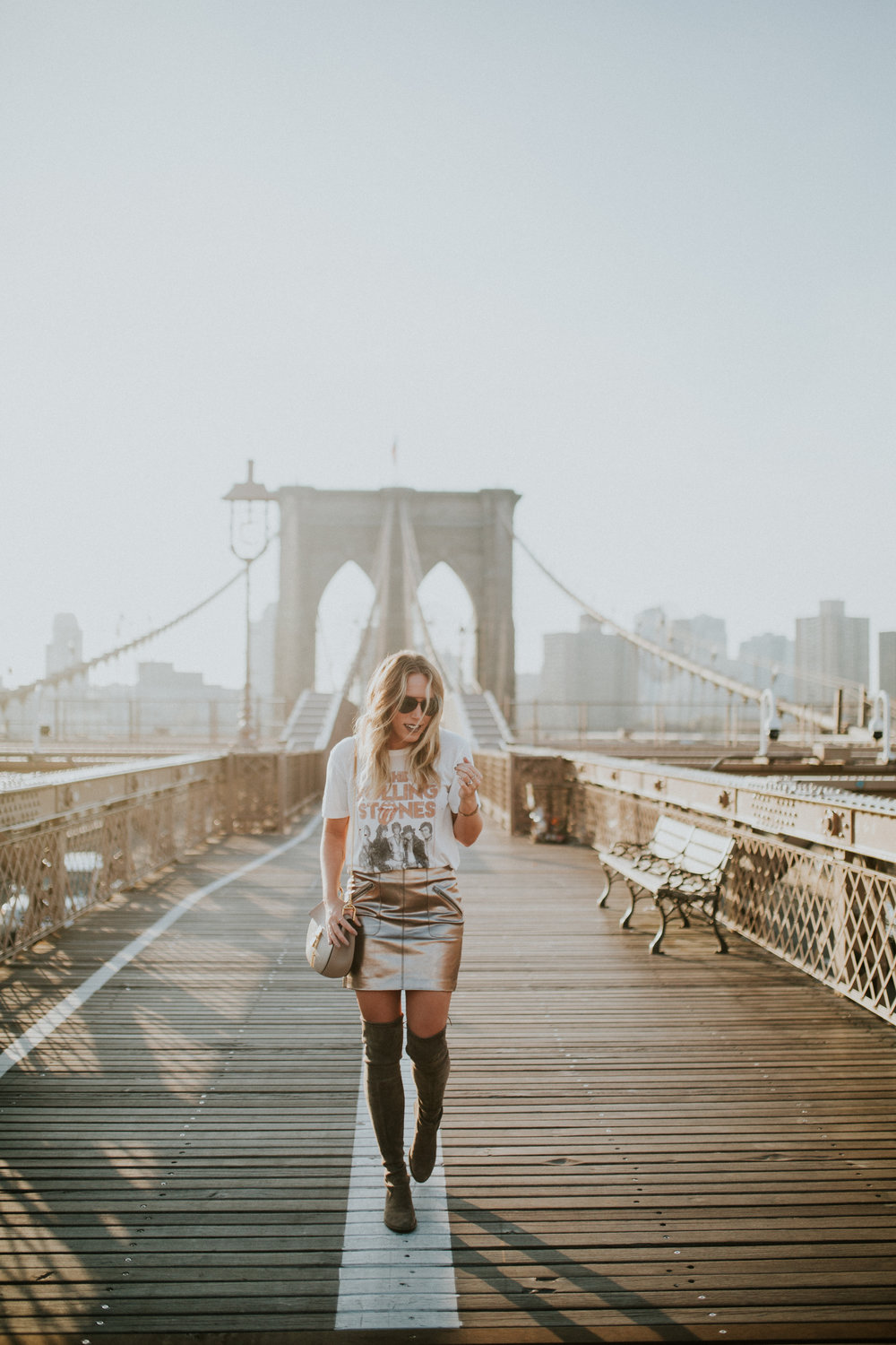 Blogger Gracefully Taylored in DayDreamer Tee, BlankNYC Skirt and Stuart Weitzman Boots(5).jpg