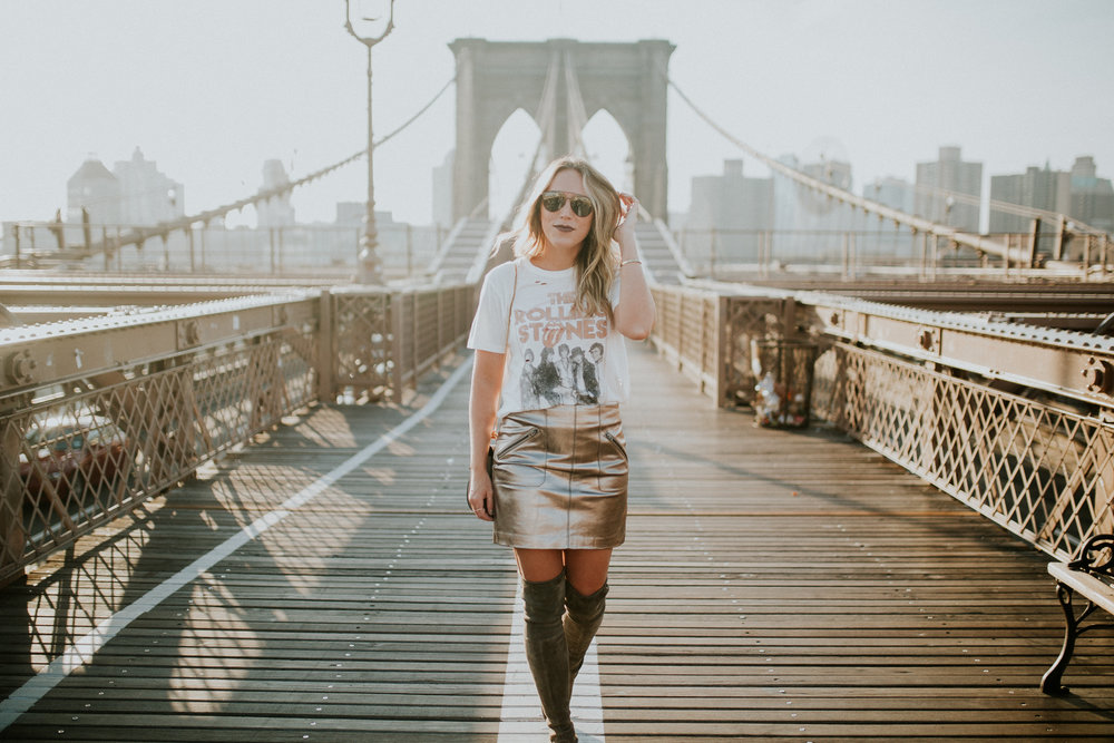 Blogger Gracefully Taylored in DayDreamer Tee, BlankNYC Skirt and Stuart Weitzman Boots(12).jpg