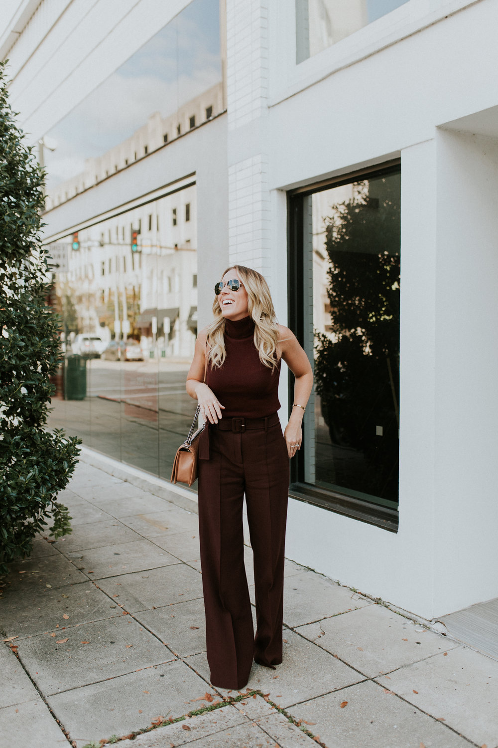 Blogger Gracefully Taylored in Theory Top and Pants(1).jpg
