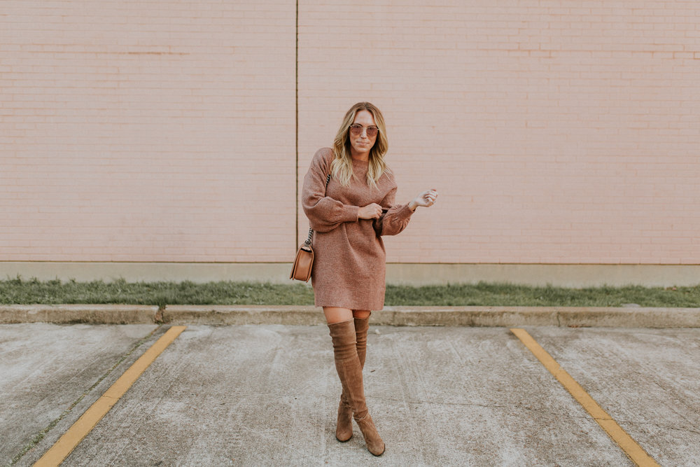 Blogger Gracefully Taylored in Topshop Sweater Dress and Stuart Weitzman Boots(5).jpg
