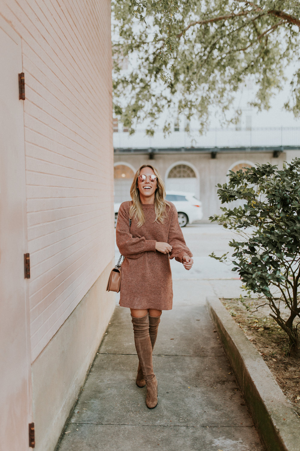 Blogger Gracefully Taylored in Topshop Sweater Dress and Stuart Weitzman Boots(10).jpg