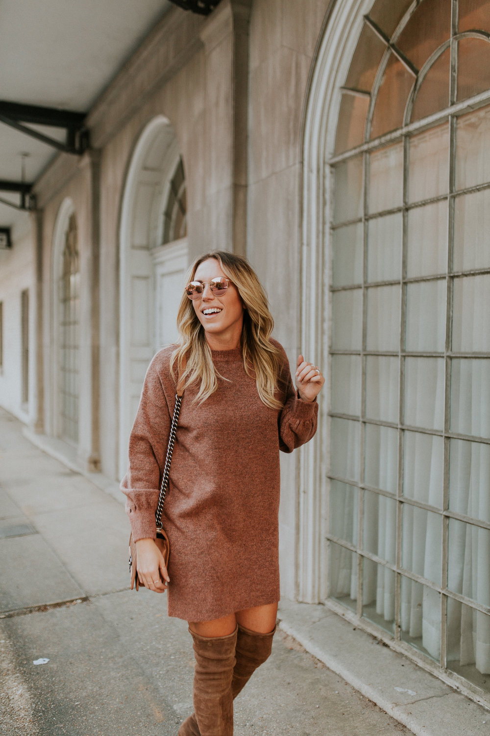 Blogger Gracefully Taylored in Topshop Sweater Dress and Stuart Weitzman Boots(21).jpg