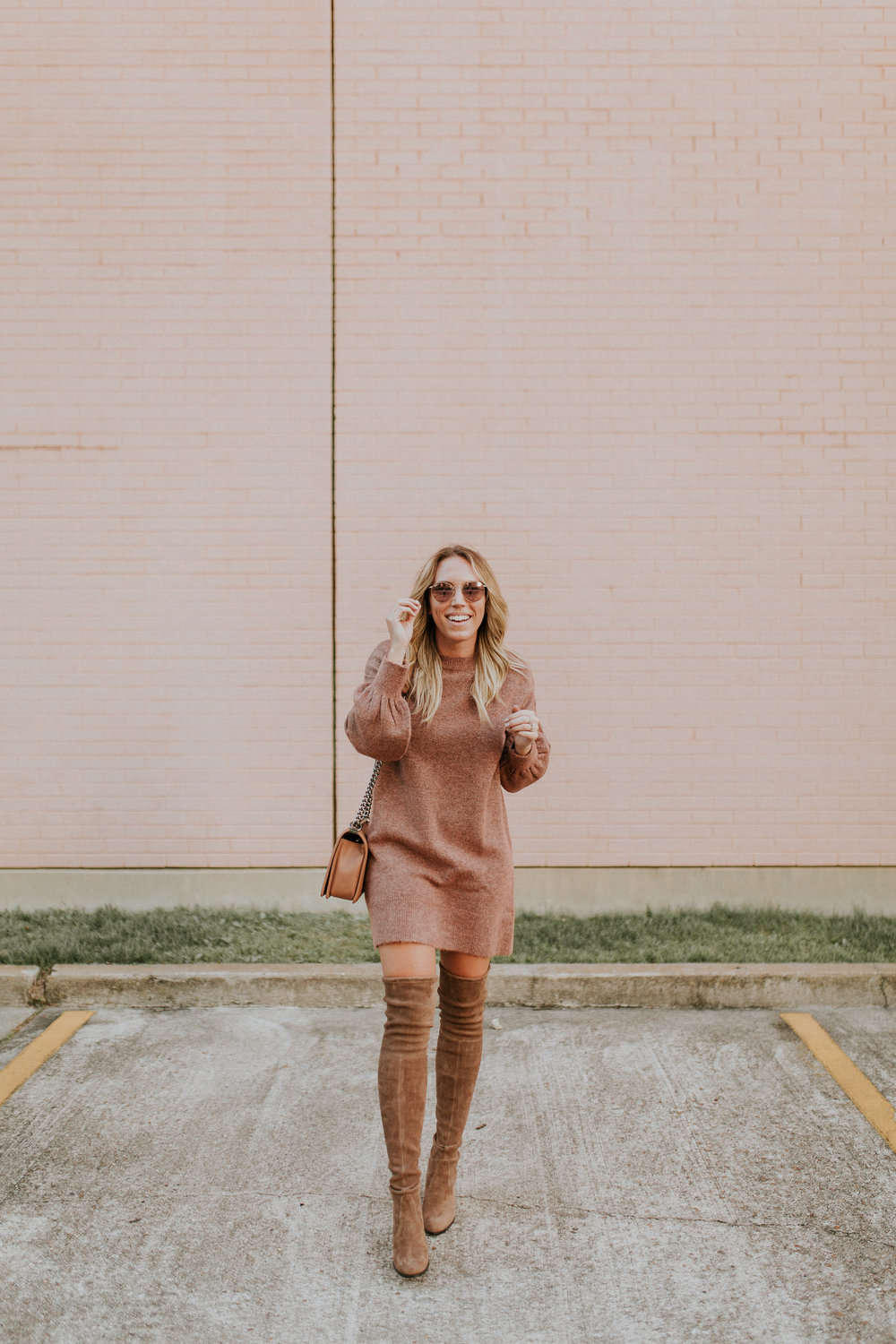 Blogger Gracefully Taylored in Topshop Sweater Dress and Stuart Weitzman Boots(1).jpg