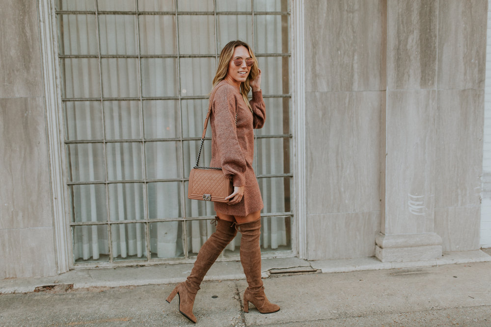 Blogger Gracefully Taylored in Topshop Sweater Dress and Stuart Weitzman Boots(19).jpg