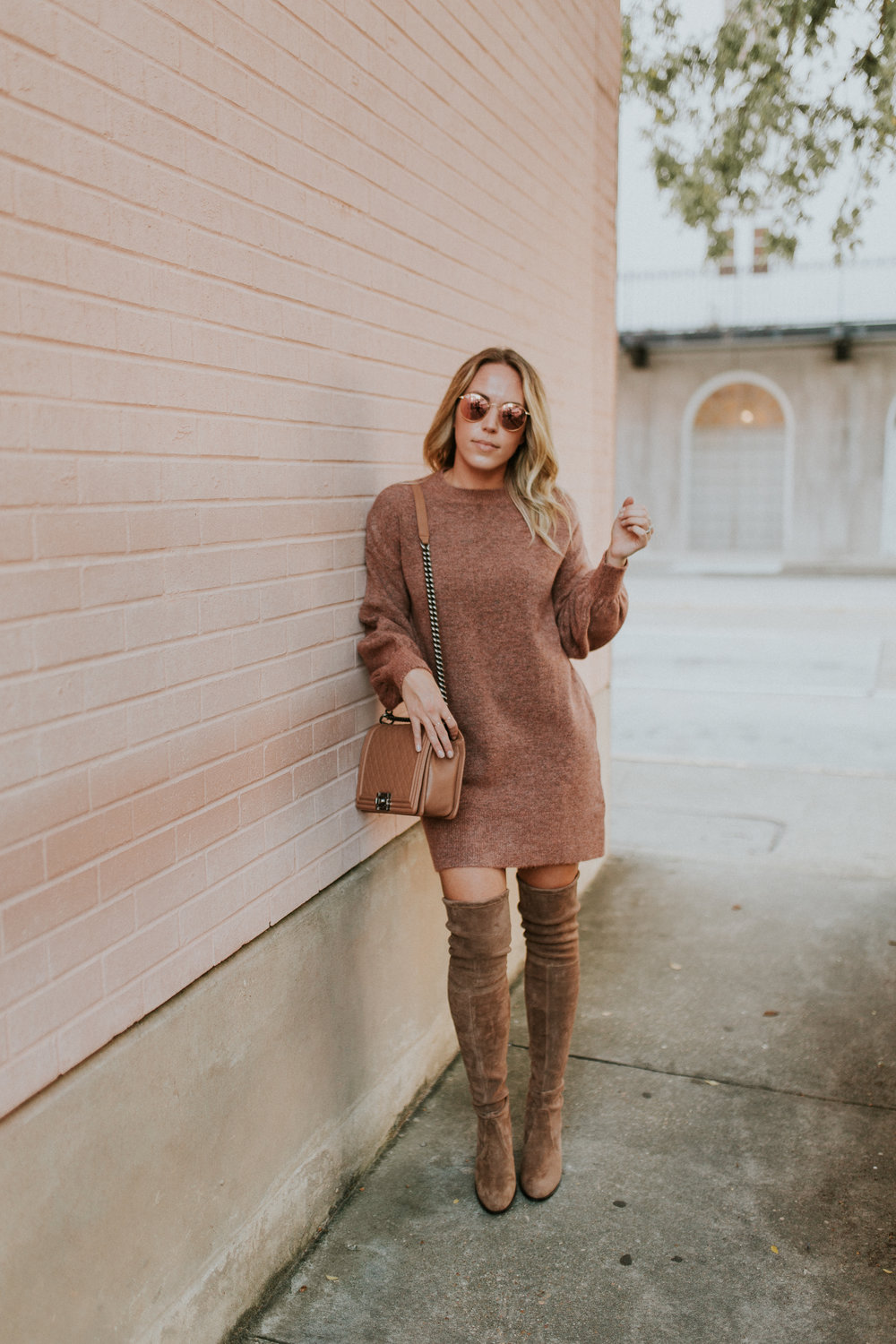 Blogger Gracefully Taylored in Topshop Sweater Dress and Stuart Weitzman Boots(11).jpg