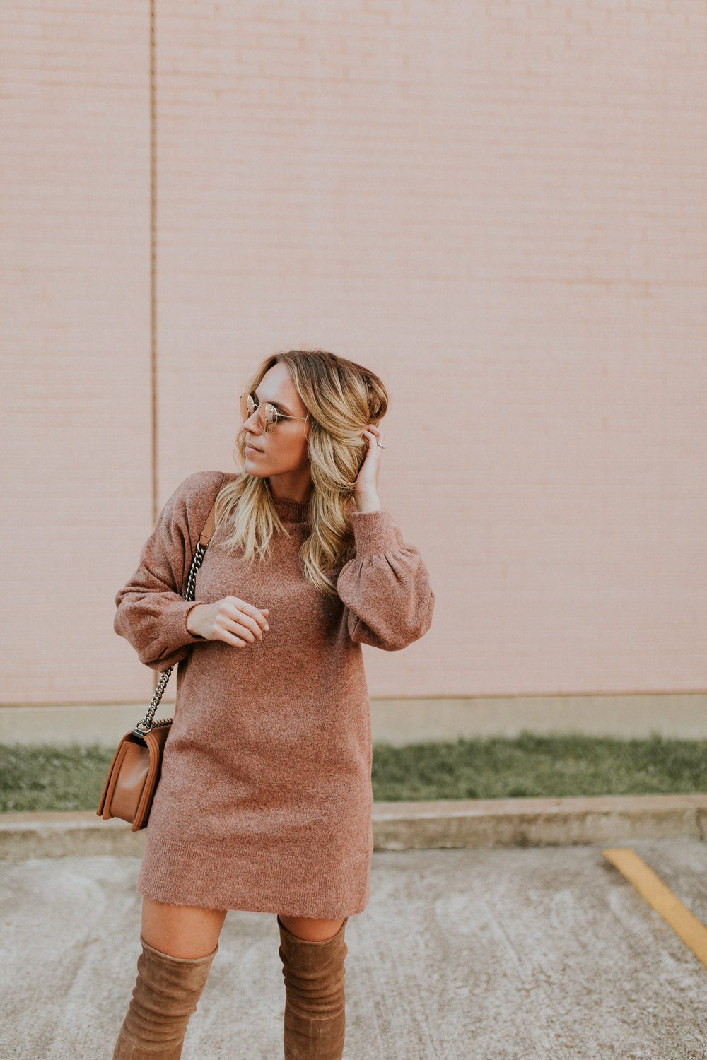 Blogger Gracefully Taylored in Topshop Sweater Dress and Stuart Weitzman Boots(6).jpg