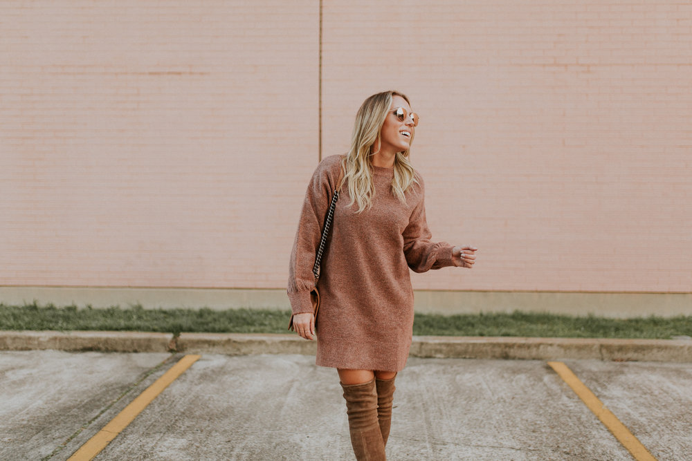 Blogger Gracefully Taylored in Topshop Sweater Dress and Stuart Weitzman Boots(7).jpg