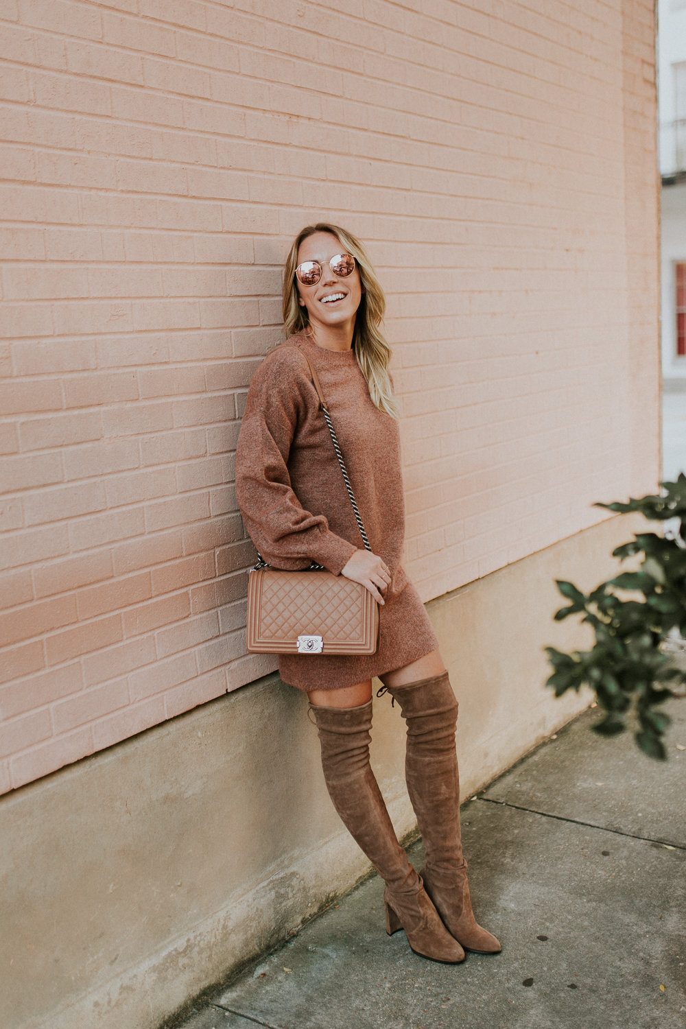 Blogger Gracefully Taylored in Topshop Sweater Dress and Stuart Weitzman Boots(13).jpg
