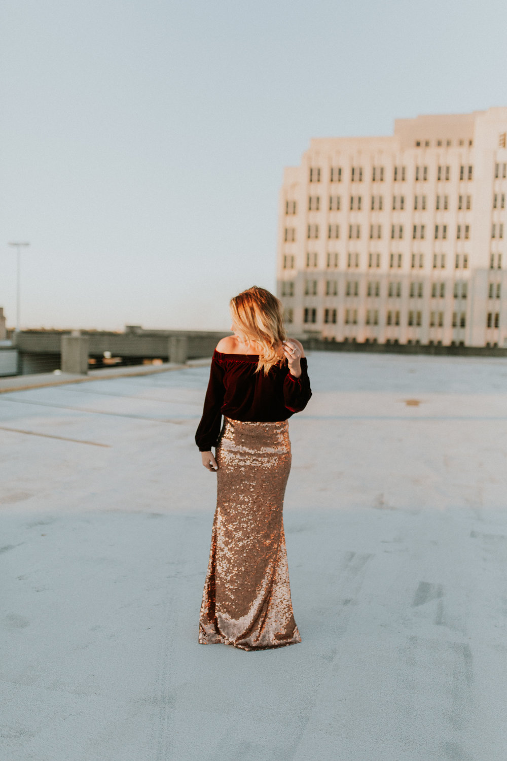 Blogger Gracefully Taylored in Clad & Cloth Sequin Skirt.jpg