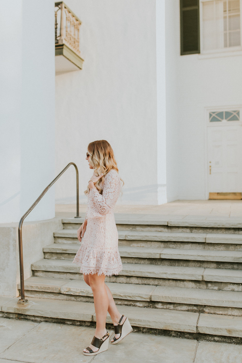 Blogger Gracefully Taylored in Blush Lace Dress Nordstrom(6).jpg