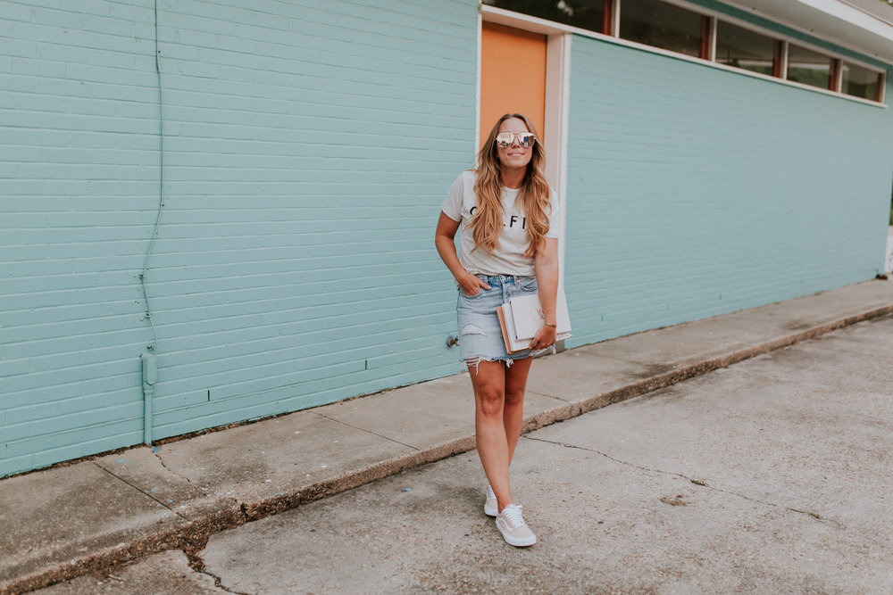 Blogger Gracefully Taylored in Levis Denim Skirt School.jpg