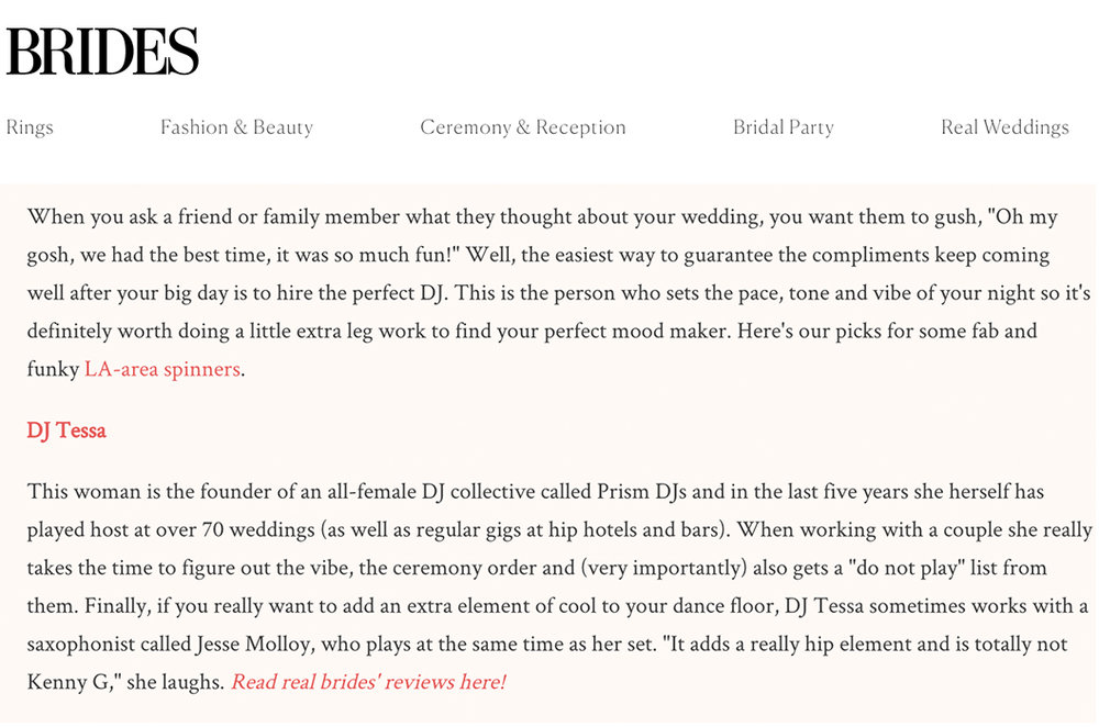 Blog dj tessa brides magazine dj tessa named best wedding djs in la solutioingenieria Choice Image