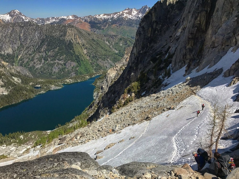 Final Traverse on Aasgard Pass