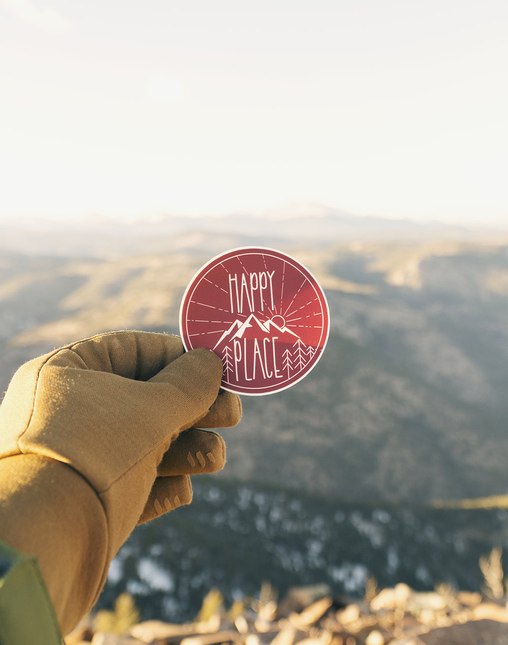 Happy Place Sticker - Maroon.jpg