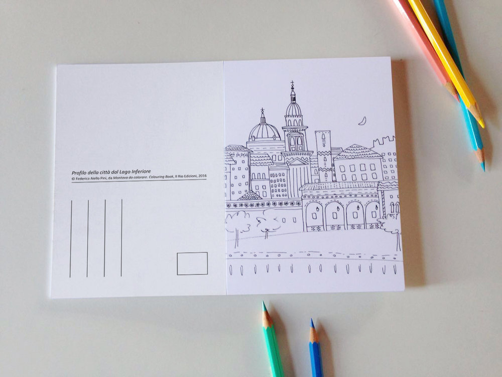 Mantova da colorare Coloring book