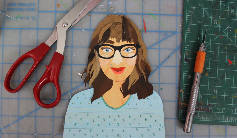 Paper Art: Create a Cut Paper Self-Portrait - Sara Barnes