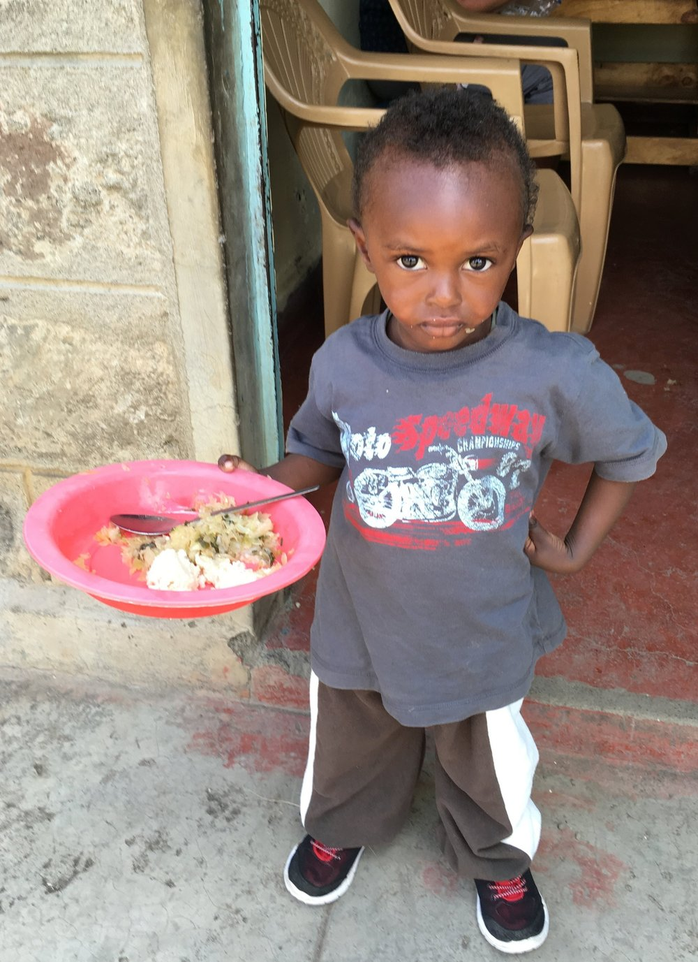 This is Richard. Your support will help ensure he gets lunch each day. The lunch Little Lambs provides is often the only meal these kids will have that day.
