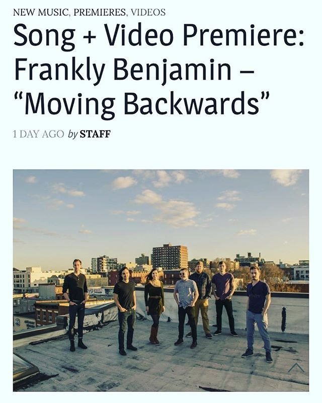 """Thank you @musicandriots_magazine! """"Moving Backwards"""" is out."""