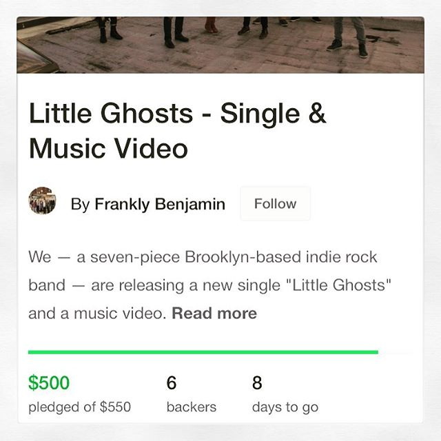 "Wow! We are so grateful to our supporters for rising to the challenge & helping us to raise $$$ to put out ""Little Ghosts."" We're almost there!"