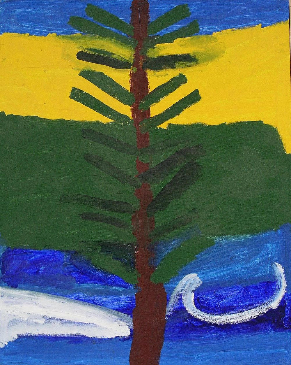 Noah Erenberg, %22Christmas Tree%22, Acrylic on canvas, 20.5x16.5in..jpg