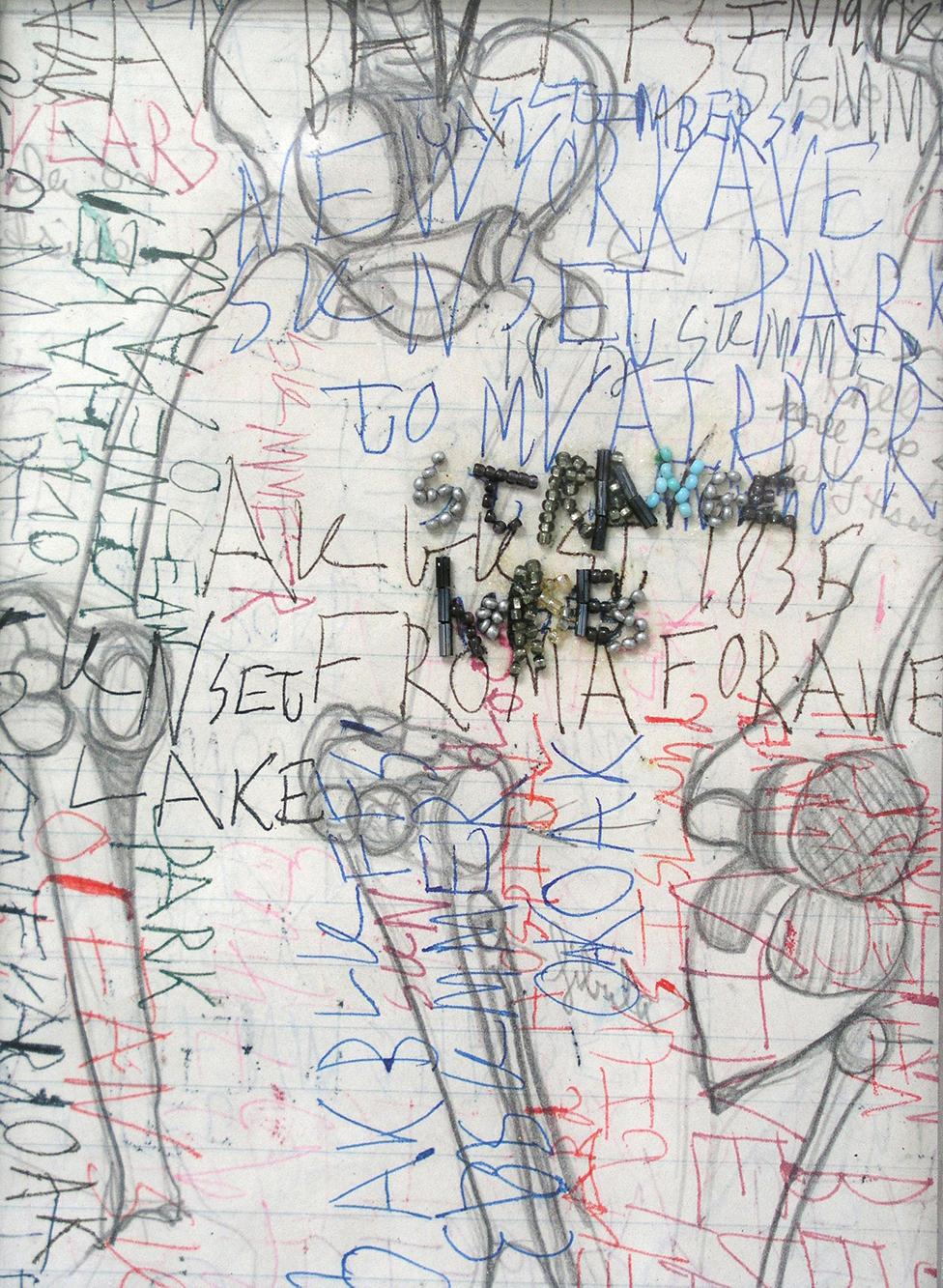 %22StrangeHorses%22,beads,ink,pencilonpaper,7.5x5.5in.,2008.jpg