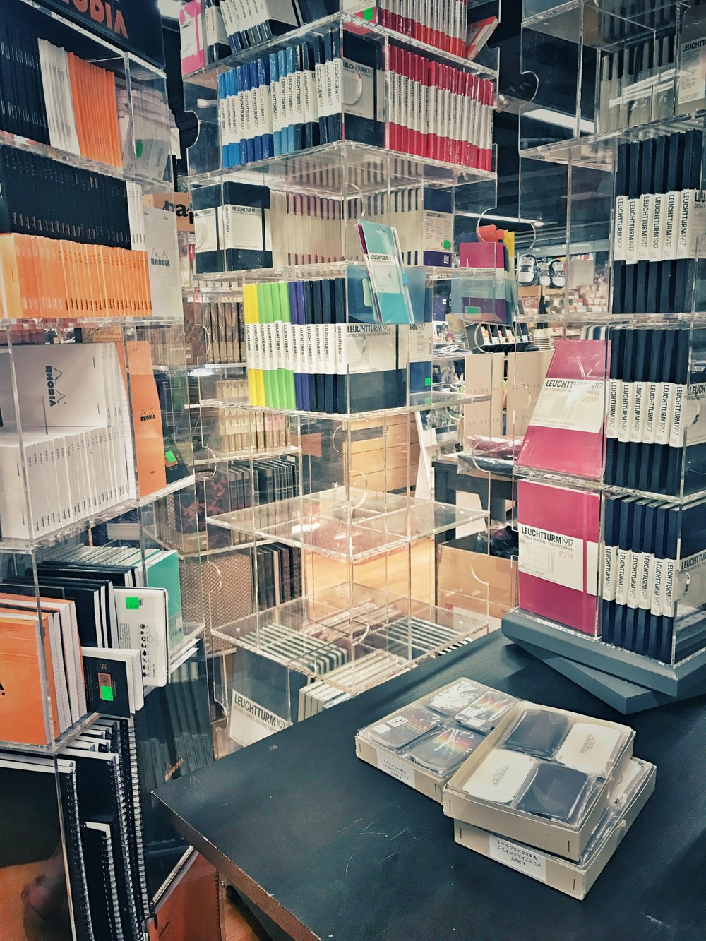 Racks on Racks of Notebooks
