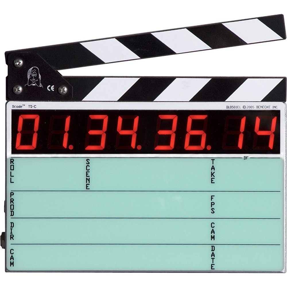 Smart slates - DENECKE - The Denecke TS-C is a compact full featured smart slate, capable of reading, generating and displaying SMPTE/EBU time code.