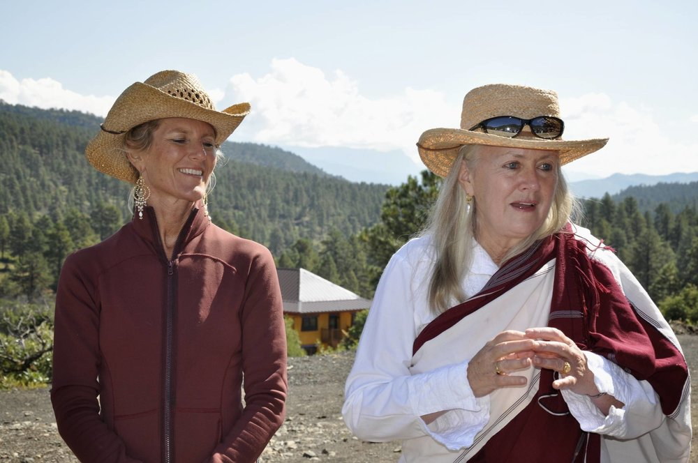 Shiva Rea and Lama Tsultrim at Tara Mandala Buddhist Retreat Center.