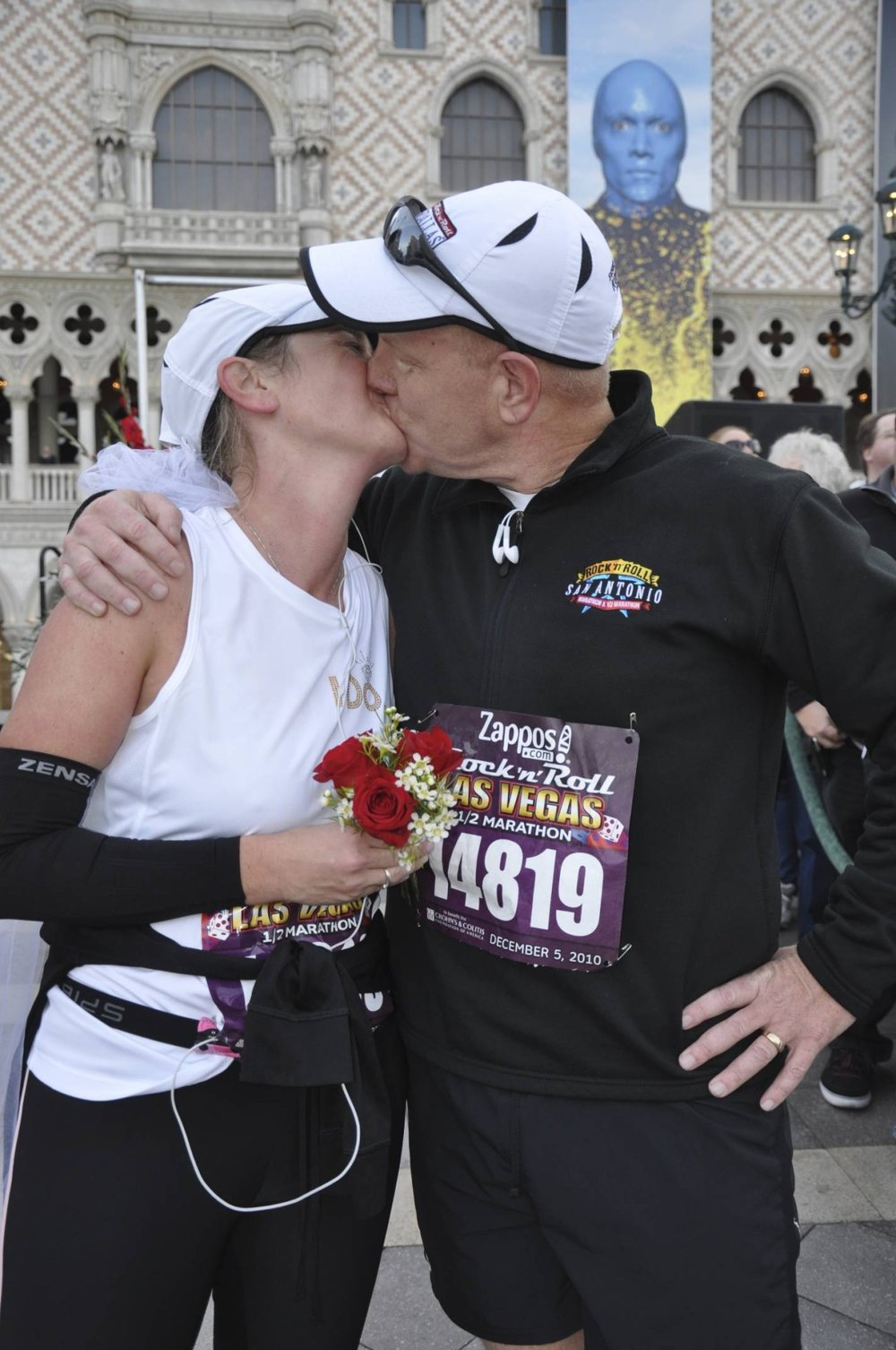 Getting married at the Run Thru Chapel at the Las Vegas Marathon. (2010)