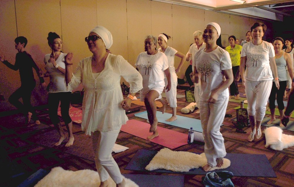 Kundalini yoga at the Tadasana Yoga Festival.