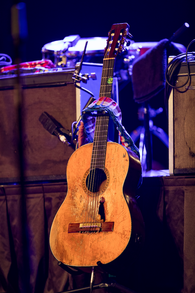 Willie Nelson's guitar Trigger. Photo credit: Erik Kabik