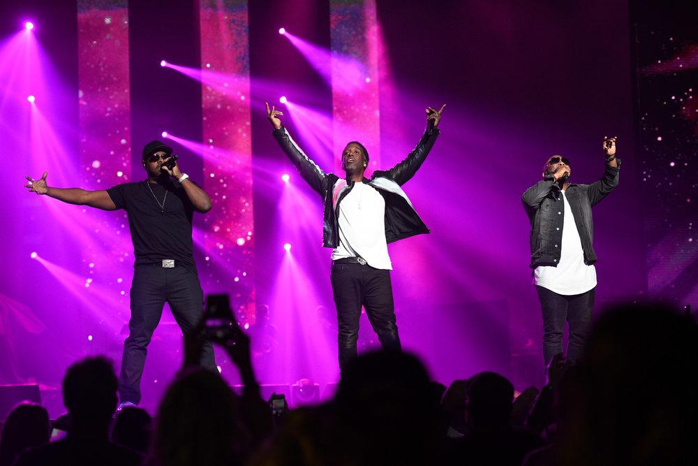 Boyz II Men at the Vegas Strong Benefit Concert in Las Vegas, Nev., Dec. 1, 2017. Photo credit: Powers Imagery