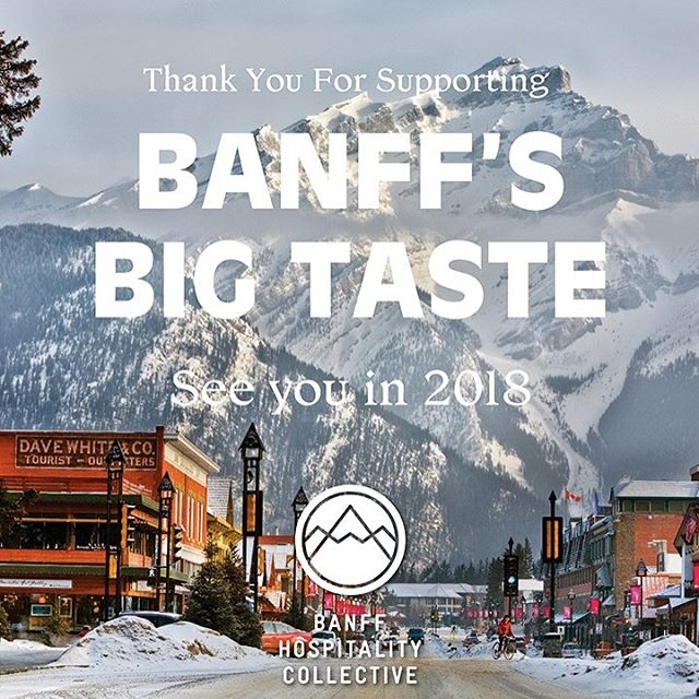 Thank you to everyone who came out and enjoyed the events of Banff's Big Taste, as well as all of the participating restaurants and beverage companies who helped elevate Banff's dining. We are already looking forward to next year! #banffsbigtaste #thankyou