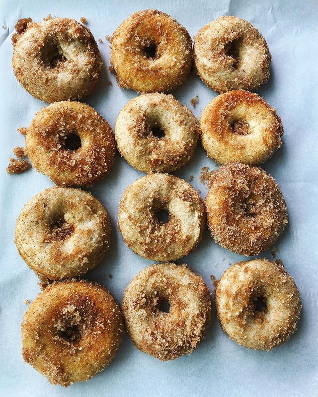 Change of seasons brings new recipes ...including these cutie GF sugar + spice mini donuts. 🍩 Keep an eye out for these + other GF donuts coming soon 👀
