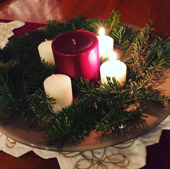 I made an advent wreath this year and I love it. It's not anything special, but a daily reminder to cease the striving. Every Sunday we light a candle and read the weekly email from Sarah Bessey about that weeks candle.
