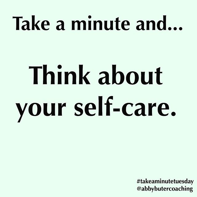 Do you think about how you care for yourself? . Or how you prioritize your own health and well-being? . You should value yourself enough to make regular commitments to your own care. It will make you a better human, mom, dad, leader, co-worker, friend, etc. . Take some time today to think about how you define self-care and what it looks like in your life. . And if you're not sure, I would love to have you join me for a FREE webinar this Thursday, April 19th from 6:00-7:00pm CST. . We'll talk about self-care myths and how you can implement self-care practices in your own life. . Register at the link in my profile. . #takeaminutetuesday #shamelessselfpromotion #selfcare #selfcaretip #personalgrowth
