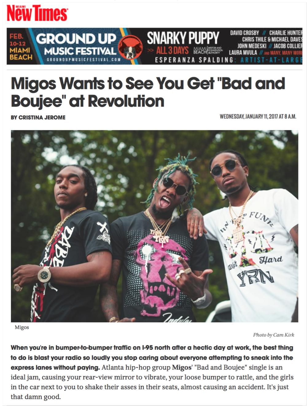 Migos at Revolution Live