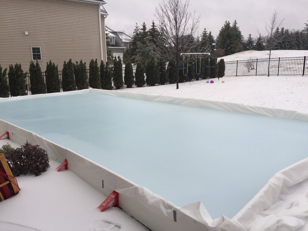 The EZ ice rink system is simple and quick with no fuss spending extra money each year for repairs. The side boards stack up like lego's and are easy to store. Along with included straps and supports, this is a fantastic engineered system.  -                                                                                                        -Cory (IL)