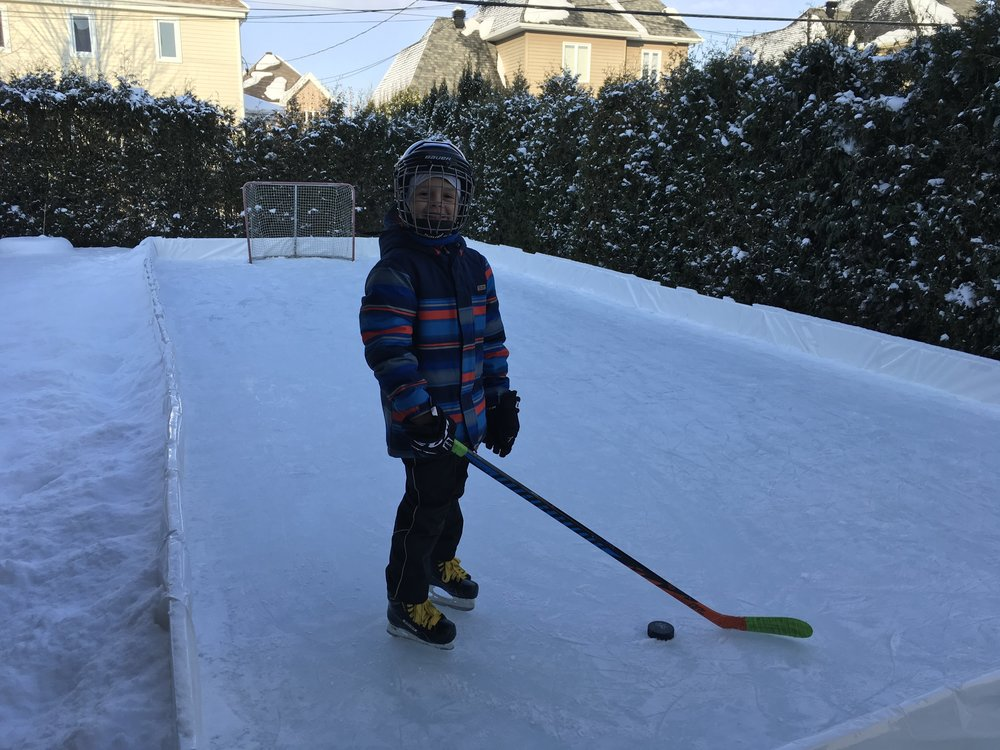 Backyard Ice Rink Kits Reviews | EZ Ice Hockey Rink Kit Testimonials