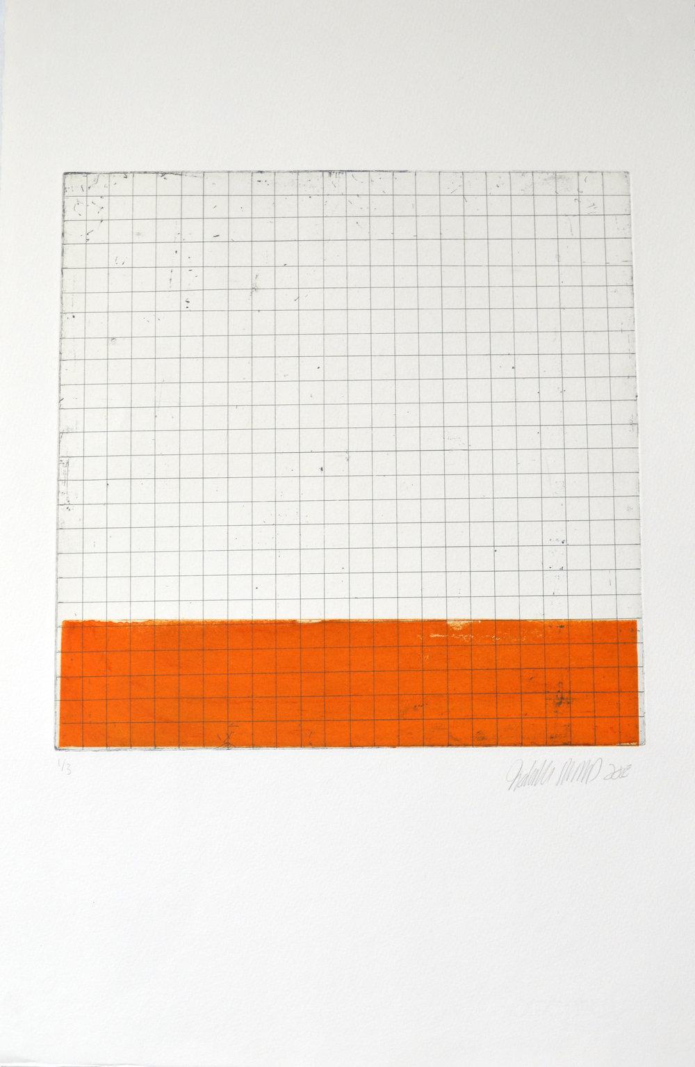 """Sans titre (de la série """"Espaces blancs"""", variante orange)"""