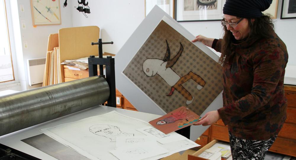 Fontaine Leriche et son travail. Crédit photo : Catherine Leblond.