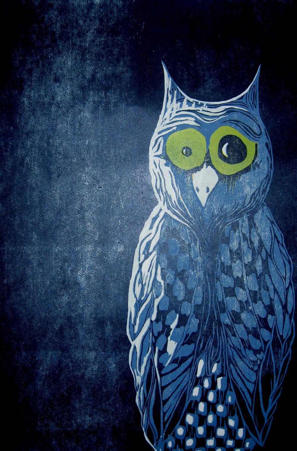 Un oiseau dans la nuit