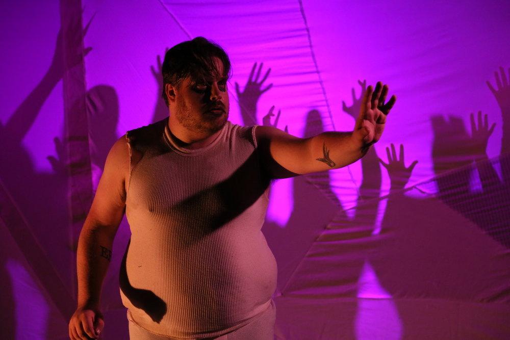 Performer  Marcus Gorman   in DangerSwitch!'s  Mad Scientist Cabaret at Annex Theatre. Directed by  Eddie DeHais .  Photo credit:  Ian Johnston