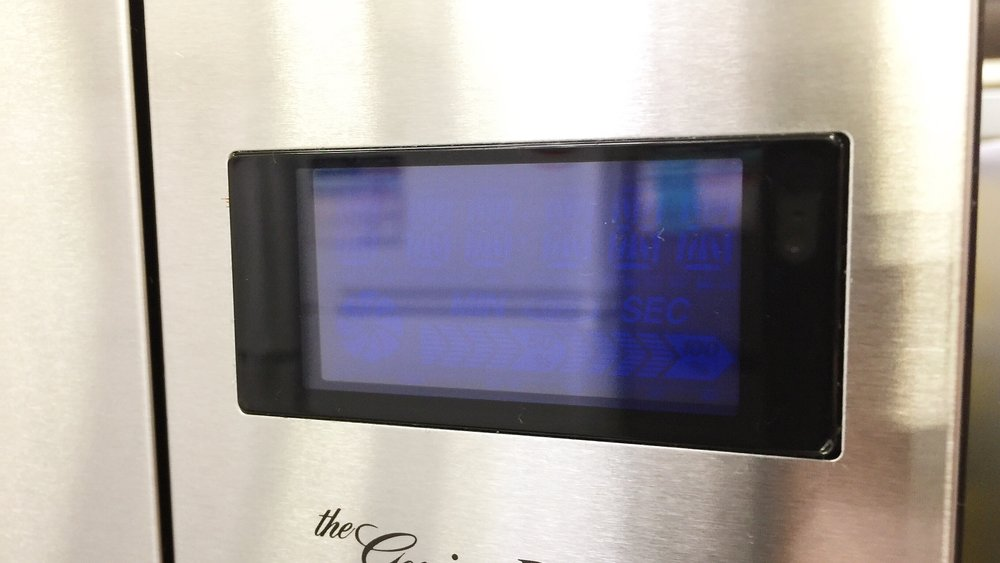 The LED display of lonely microwave oven