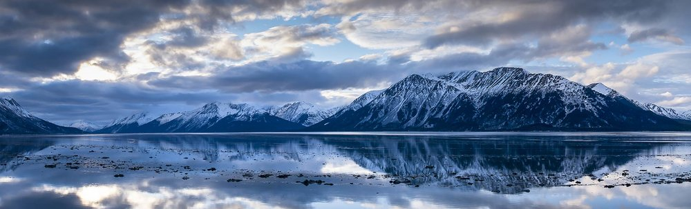 John Brown - Panorama of the Turnagain Arm of the Cook Inlet at dawn